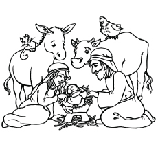 Jesu fødsel fargelegge